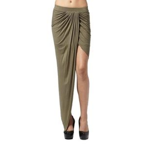 Olive High Low Skirt
